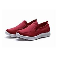 Dames Loafers & Slip-Ons Comfortabel Weefsel Lente/Herfst Dagelijks Causaal Wandelen Comfortabel Hak Zwart Donkerrood 2,5 - 4,5 cm