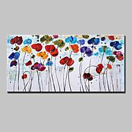 Ručno oslikana Cvjetni / Botanički Horizontalan,Moderna Europska Style Jedna ploha Platno Hang oslikana uljanim bojama For Početna