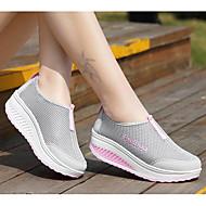 Damen Schuhe Tüll Frühling Komfort Sneakers Flacher Absatz Für Schwarz Grau Purpur Fuchsia