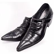 Herren Schuhe Echtes Leder Frühling Komfort Outdoor Für Normal Schwarz