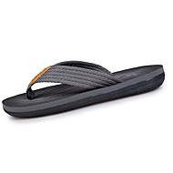 Αντρικό Παντόφλες & flip-flops PU Καλοκαίρι Περπάτημα Διαφορετικά Υφάσματα Επίπεδο Τακούνι Γκρίζο Καφέ 5εκ - 7εκ