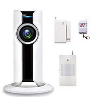 Wi-Fi hjemme innbruddssikkerhet alarmsystemer 180 grader Fisheye ip kamera CCTV trådløs telefon app kontroll med SD-kortspor videoopptak