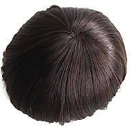 human hair toupee for men with mono base Super Swiss lace 7 x 9 Straight hair pieces for men #2