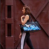 Mulher Bolsas Todas as Estações Lona Mala de Viagem com para Casual Esportes Azul