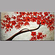 Maalattu Kukkakuvio/Kasvitiede Moderni/nykyaikainen 1 paneeli Kanvas Hang-Painted öljymaalaus For Kodinsisustus