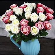10 elementów 10 Gałąź Jedwab Roses Bukiety na stół Sztuczne Kwiaty