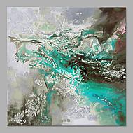 Kézzel festett Absztrakt Strand stílusok Egy elem Vászon Hang festett olajfestmény For lakberendezési