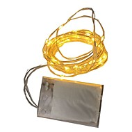 1W Lysslynger 80 lm Batteri V 2 m 20 leds Varm Hvid Hvid RGB Rød Gul Blå Grøn Lilla Lyserød