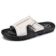 Αντρικό Παντόφλες & flip-flops Ανατομικό Δερματίνη Καλοκαίρι Causal Λευκό Μαύρο Καφέ Επίπεδο