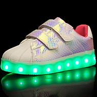 Para Meninas Tênis Conforto Tênis com LED Tule Courino Couro Ecológico Primavera Verão Outono Inverno Casual CaminhadaConforto Tênis com