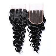 8-20 tuumaa luokka 7a luonnollinen musta syvä aalto 4 * 4 hiuslakkaus 100% jalostamaton brasilialaista hiustartuntaosaa ja 3 osaa 4x4