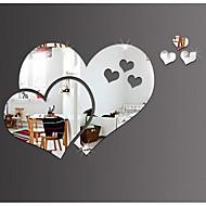 Romantika Tükrök Alakzatok Falimatrica Kristály falmatricák Tükör falimatrica Dekoratív falmatricák Anyag lakberendezési fali matrica
