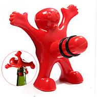 Einzigartig lustig glücklich rot Mann Kerl Wein Stopper Flasche Kunststoff Neuheit Bar / home Werkzeuge Stecker perky kreative Geschenke -