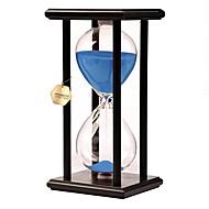 Leketøy til Gutter Oppdagelsesleker Timeglass Leker Rektangulær Timeglass Tre Glass