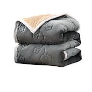 Knuffelfleece Effen Polyester / Katoen Mix dekens