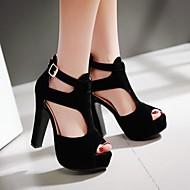 Ženske Cipele PU Ljeto Udobne cipele Cipele na petu Stiletto potpetica S Za Kauzalni Crn Fuksija Deva