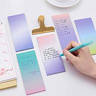 1 pc de couleur dégradée auto-adhésif notes 40 pages (couleur aléatoire)
