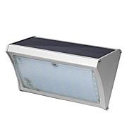 56 levou iluminação solar de indução solar lâmpada de parede de liga 8w com controle remoto pátio varanda luzes