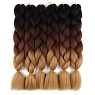Jumbo Letit Afro Liukuvärjätyt hiukset 100% kanekalon hiuksetKeskiruskea / Medium Auburn Keskiruskea Musta / Sininen Musta / violetti