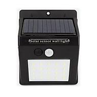 Lâmpada de sensor de energia solar casa 20 levou lâmpada de parede à prova d'água ao ar livre