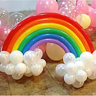 balão do arco-íris conjunto aniversário decoração do casamento festa (20 longa balão, 16 balão rodada, cor aleatória)
