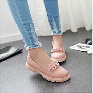Dames Loafers & Slip-Ons Comfortabel PU Zomer Causaal Wit Blauw Roze Plat