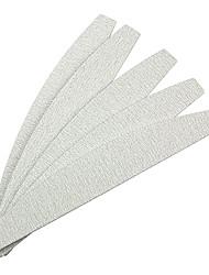 5PCS Grau Bogenförmige Emery Nail Art Dateien