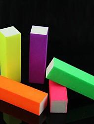5PCS Nail Art fluoreszierend leuchtenden Süßigkeit-Farben-Puffer-Block für falsche Nagel-Spitzen Acryl