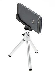 I-12-2-SL Desktop Mini Tripé de alumínio com um único convés duas seções e iPhone 5S / 5 Tripod Mount Holder