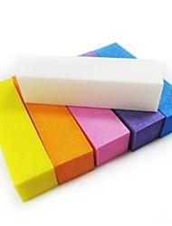 1pcs Pufferschleifblock Dateien Nail-Art-Set für Acrylnägel (gelegentliche Farbe)