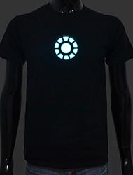 סוללה נטענת כלולה אור עד הוביל 1 קול אל חולצת טריקו איש ברזל מתכווננת הופעל ומצבי פלאש מרובים