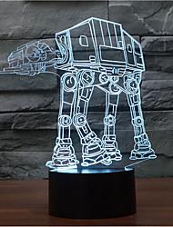מלחמת הכוכבים כלב מגע עמעום 3D LED מנורת לילה מנורת אווירה קישוט 7colorful תאורה החידוש אור חג המולד