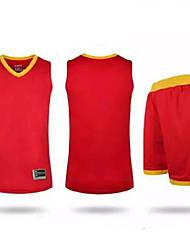Conjuntos de Roupas/Ternos(Branco Vermelho Azul Laranja) -Homens-Sem Mangas-Respirável Confortável