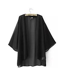 Damen Solide Einfach Ausgehen T-shirt,Rundhalsausschnitt Kurzarm Seide