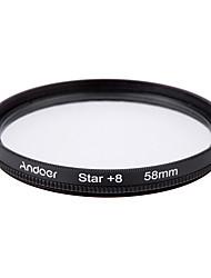 Aoer 58mm filtrační sada uv cpl hvězda 8-bodová sada filtrů s pouzdrem pro Canon Nikon sony dslr objektiv fotoaparátu