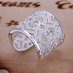 Naisten Tyylikkäät sormukset mansetti Ring Uniikki Love Morsius Tyylikäs ylellisyyttä koruja pukukorut Sterling-hopea Tekojalokivi Heart