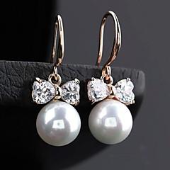 mode boucles d'oreille rondes perle de nœud papillon (plus de couleurs)