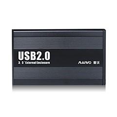 """maiwo 3,5 """"SATA USB 2.0 externí pevný disk case HDD k3502u2s"""