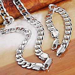 Jewelry Set Women's / Men's Anniversary / Wedding / Engagement / Gift / Party Jewelry Sets Silver Necklaces / Bracelets Silver
