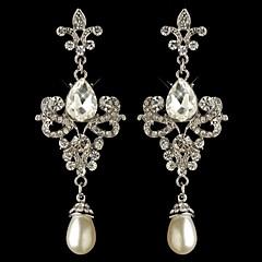 Pendentif d'oreille en forme de lustre Boucle Argent/Alliage Cristal Femme