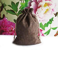 6 Adet/Set Favor Tutucu-Kuboid Jüt Hediye Çantaları Kişiselleştirilmemiş