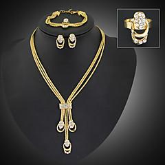 Žene Komplet nakita Moda Nakit sa stilom Dugi Duljina kostim nakit Pozlaćeni Imitacija dijamanta Jewelry Füllbevalók Ogrlica Narukvica