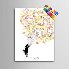 הדפסי בד ציור טביעת אצבע אישית דואר home® - אנשים חדשים תחת הבלון (כולל 12 fcolors דיו)