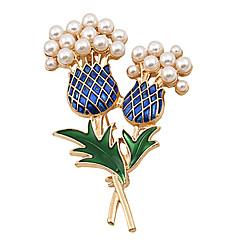 Feminino Broches bijuterias Moda Jóias de Luxo Pérola Jóias Para Casamento Festa Ocasião Especial Aniversário Diário