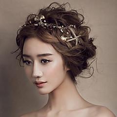 kvinners gull seafish pannebånd pannen hår smykker for bryllup