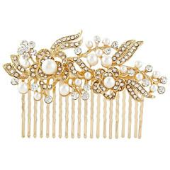 sølv krystall perle hår kammer for bryllupsfesten dame smykker