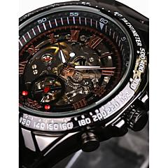 WINNER Férfi Szkeleton óra Karóra mechanikus Watch Automatikus önfelhúzós Vízálló Üreges gravírozás sebességmérő Fénylő Rozsdamentes acél