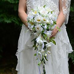 Cvijeće za vjenčanje Slobodni oblik Kaskada Roses Buketi Vjenčanje Party / Večernji Saten Svila