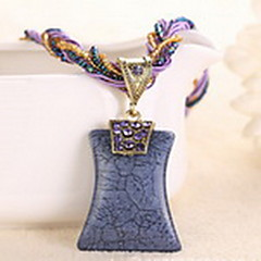 Necklace Pendant Necklaces Jewelry Casual Fashion Alloy Coffee / Black / White / Yellow / Red / Blue / Orange / Purple / Gray 1pc Gift