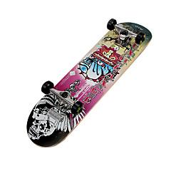 Akçaağaç Çocukların Standart Skateboards Profesjonalne Sarı Pembe